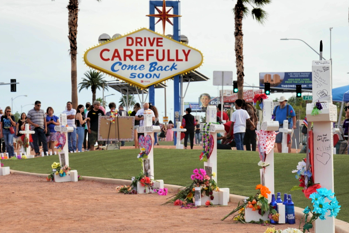 Las Vegas Memorial Sign